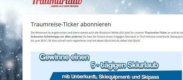 Mein Traumurlaub Gewinnspiel Skiurlaub 2017