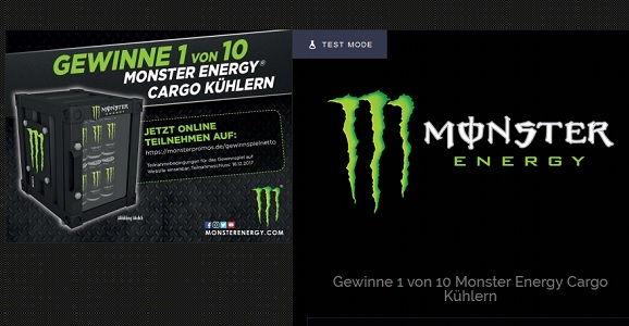 Mini Kühlschrank Mit Werbung : Monster energy gewinnspiel mini kühlschränke gewinnen