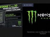 Monster Energy Gewinnspiel Mini-Kühlschrank