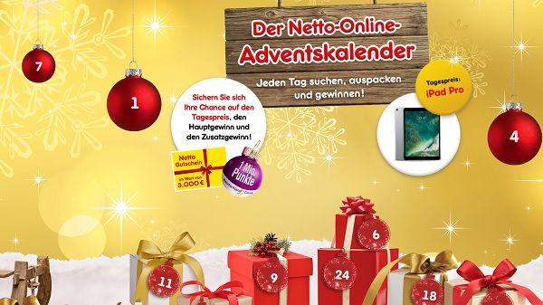 Weihnachtskalender Netto.Netto Adventskalender Gewinnspiel Apple Ipad Pro Und Zusatzchance
