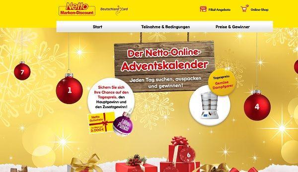 Weihnachtskalender Netto.Netto Marken Discount Adventskalender Gewinnspiel 2017
