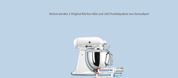 rossmann gewinnspiel kitchenaid k chenmaschine und sensodyne produkte. Black Bedroom Furniture Sets. Home Design Ideas