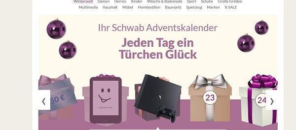 Schwab Advenstkalender Gewinnspiel Sony Playstation 4