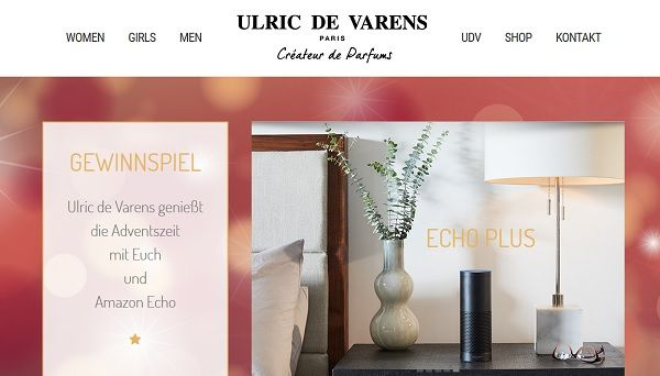 Ulric de Varens Advents-Gewinnspiel Amazon Echo 2017