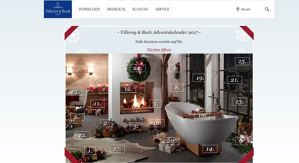 villeroy boch adventskalender gewinnspiel badezimmerzubeh r. Black Bedroom Furniture Sets. Home Design Ideas