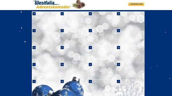 Westfalia Adventskalender Gewinnspiel