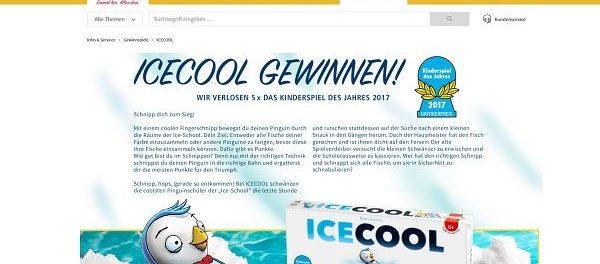 real Gewinnspiel Icecool Kinderspiel des Jahres