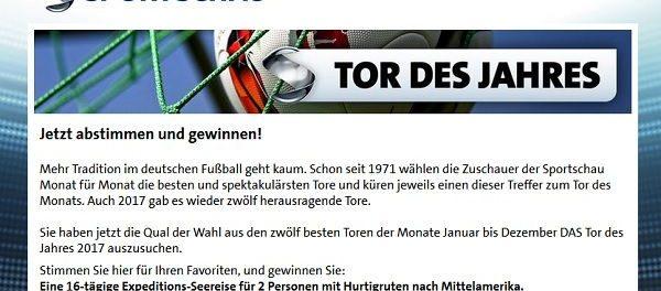 ARD Sportschau Tor des Jahres 2017