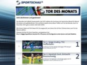 ARD Sportschau Tor des Monats Gewinnspiel Kreuzfahrt 2018