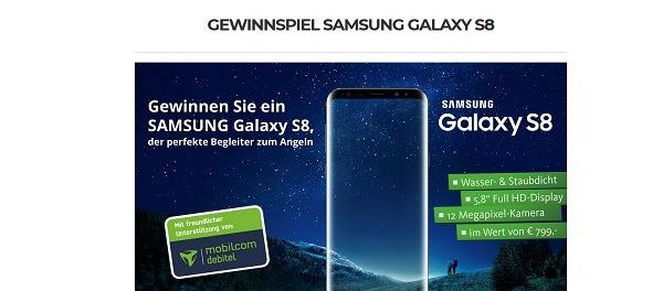 Angel Spezi Gewinnspiel Samsung Galaxy S8