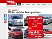 Auto Motor Sport Gewinnspiel Best Cars 2018