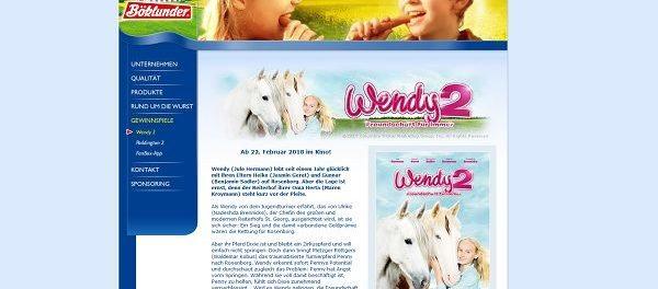 Böklunder Gewinnspiel Wendy 2 Familienurlaub 2018