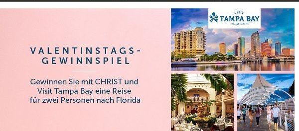 Christ Valentinstag Gewinnspiel Florida Reise 2018