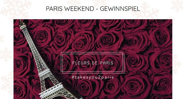 fleurs de paris valentinstag gewinnspiel paris reise gewinnen. Black Bedroom Furniture Sets. Home Design Ideas