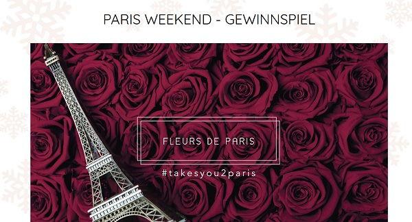 Fleurs de Paris Valentinstag Gewinnspiel Paris Reise gewinnen