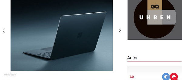 GQ Magazin Gewinnspiel Surface Notebook