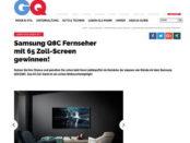 GQ Magazin Gewinnspiele Smaung 65 Zoll TV