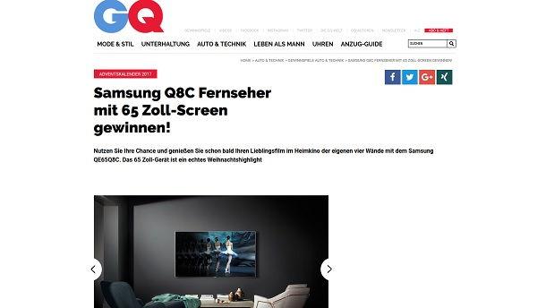 gewinnspiel gq magazin samsung 65 zoll fernseher. Black Bedroom Furniture Sets. Home Design Ideas