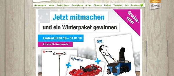 GartenXXL Winterpaket Gewinnspiel 2018
