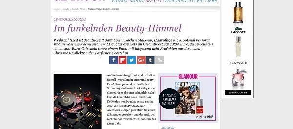 Glamour Douglas Gewinnspiel Gutscheine und Produktpakete