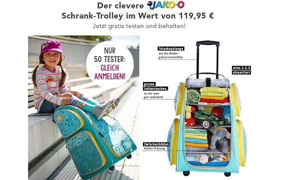 Jako o gewinnspiel 50 kinder schrank trolley tester gesucht for Schrank trolley