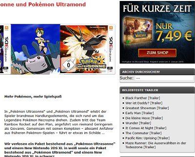Kino News Gewinnspiele Pokemon Nintendo 2DS
