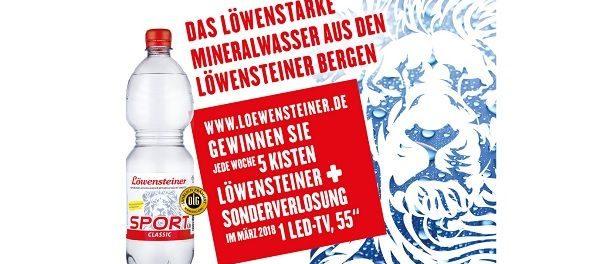 Löwensteiner Mineralwasser 55 Zoll LED TV