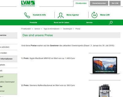 LVM Gewinnspiel Apple MacBook 2018
