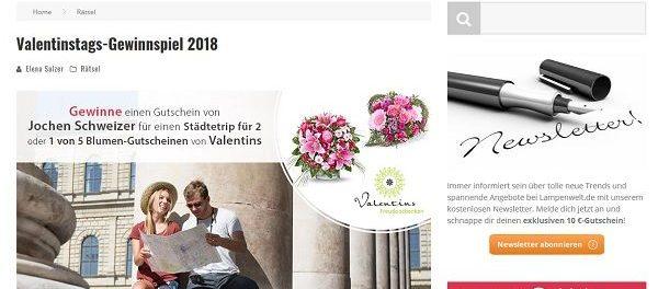 Lampenwelt Valentinstag Gewinnspiel 2018