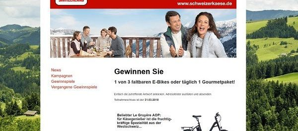 Schweizerkäse E-Bike Gewinnspiel 2018