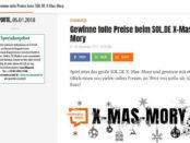 Sol.de X-Mas Gewinnspiel Amazon Gutschein 2018