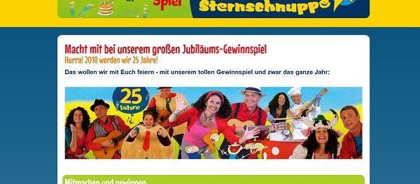 Sternschnuppe Kinderlieder Jubiläums Gewinnspiel 2018