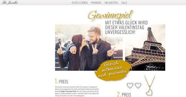 The Jeweller Valentinstag Gewinnspiel Paris Reise und Schmuck