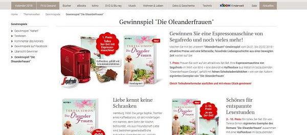 Weltbild Gewinnspiel Die Oleanderfrauen 2018