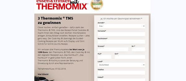 essen und trinken Thermomix Gewinnnspiel 2018
