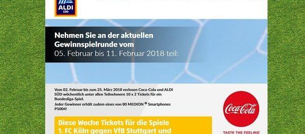 Aldi Süd Gewinnspiel Bundesliga Tickets und Smartphone
