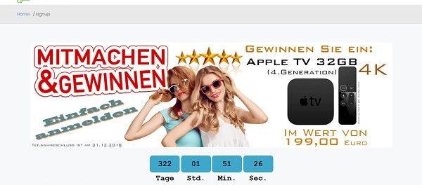 Apple TV Gewinnspiel diefin.de