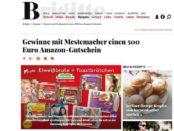 Brigitte Gewinnspiel Mestemacher 500 Euro Amzon Gutschein