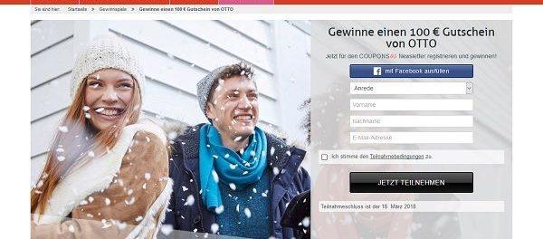 COUPONS4U Gewinnspiel 100 Euro Otto Gutschein