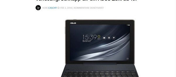 Cachys Blog Gewinnspiel Asus ZenPad 10