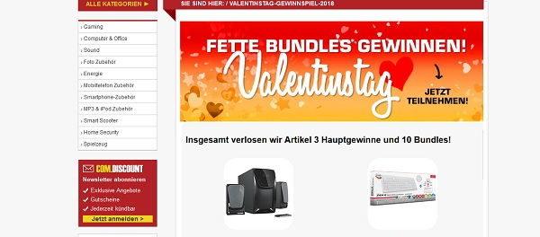 Com Discount Valentinstag Gewinnspiel 2018