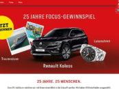 Focus Gewinnspiel Auto und Traumreise gewinnen