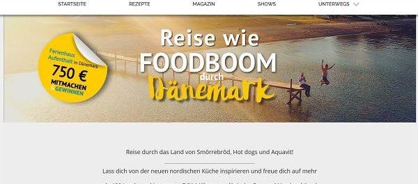 FoodBoom Gewinnspiel Dänemark Ferienhaus Gutschein 2018