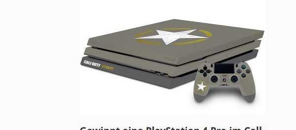 Gamez Gewinnspiel Call of Duty Playstation 4