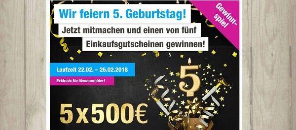 Gartenxxl Gewinnspiel 5 Mal 500 Euro Gutscheine Jubiläums Verlosung