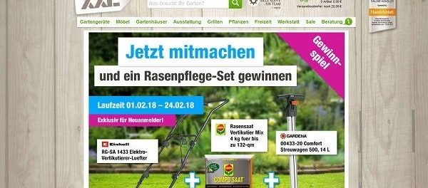 GartenXXL Gewinnspiel Rasenpflege-Set 2018