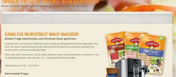 Gutfried Gewinnspiel Kaffeevollautomat 2018