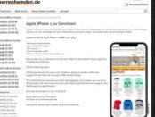 Herrenhemden Apple iPhone X Gewinnspiel 2018