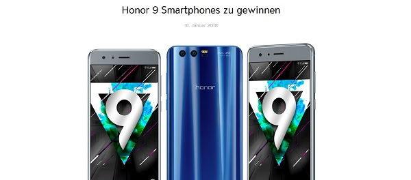 Jolie Gewinnspiel Honor 9 Smartphone 2018