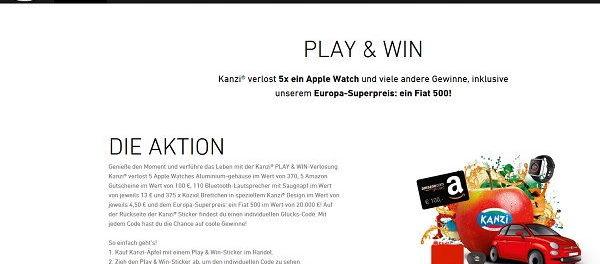 Kanzi Auto Gewinnspiel Fiat 500